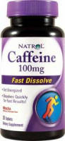 Natrol Caffeine 100 mg Fast Dissolve (30 таб)