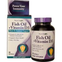 Natrol Fish Oil + Vitamin D3 (90 капс)