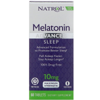 Natrol Melatonin 10 mg Advanced Sleep (60 таб)