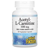 Natural Factors Acetyl-L-Carnitine 500 mg