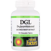 Natural Factors DGL Deglycyrrhizinated Licorice Root Extract - Экстракт солодки