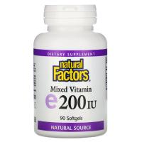 Natural Factors Mixed Vitamin E 200 IU