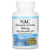 Natural Factors NAC N-Acetyl-L Cysteine 500 mg