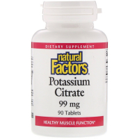 Natural Factors Potassium Citrate - Цитрат калия