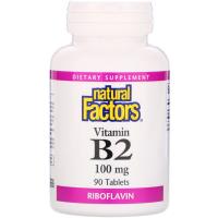 Natural Factors Vitamin B2 Riboflavin 100 mg