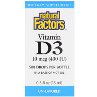 Natural Factors Vitamin D3 Drops 400 IU (15 ml)