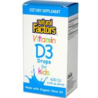 Natural Factors Vitamin D3 Drops 400 IU (15 ml)