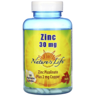 Nature's Life Zinc Picolinate 30 mg