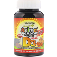 Nature's Plus Animal Parade Vitamin D3 500 IU