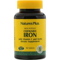 Nature's Plus Chewable Iron - Железо