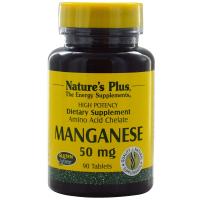 Nature's Plus Manganese 50 mg