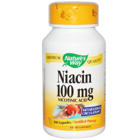 Nature's Way Niacin 100 mg - Никотиновая кислота
