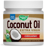 Nature's Way Organic Coconut Oil Extra Virgin (448 гр) - Кокосовое масло