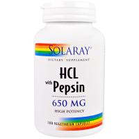 Solaray HCL with Pepsin 650 mg