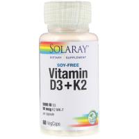 Solaray Vitamin D3 + K2
