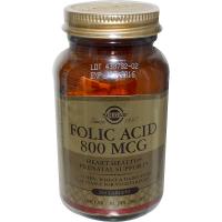 Solgar Folic Acid 800 mcg - Фолиевая кислота