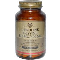 Solgar L-Proline L-Lysine 500 mg/500 mg