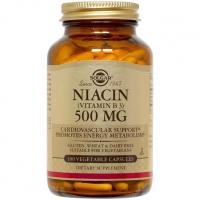 Solgar Niacin 500 mg - Витамин B3