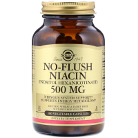 Solgar No-Flush Niacin 500 mg - Ниацин не вызывающий покраснений