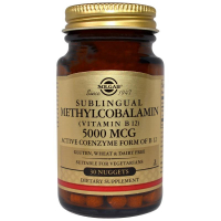 Solgar Sublingual Methylcobalamin (Vitamin B12) 5000 mcg - Метилкобаламин