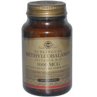 Solgar Sublingual Methylcobalamin (Vitamin B12) 1000 mcg - Метилкобаламин