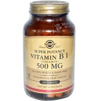 Solgar Vitamin B1 (Thiamin) 500 mg - Тиамин