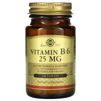 Solgar Vitamin B6 25 mg