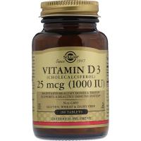 Solgar Vitamin D3 1000 IU (25 mcg) (180 таб)