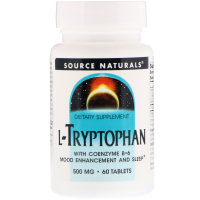 Source Naturals L-Tryptophan with Coenzyme B-6 500 mg