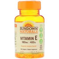 Sundown Naturals Vitamin E 180 mg (400 IU)