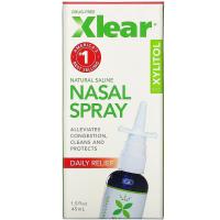 Xlear Xylitol Saline Nasal Spray (45 мл) - Солевой назальный спрей с ксилитолом