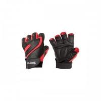 Перчатки для фитнеса Be First (красно-черные)