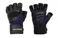 Перчатки для фитнеса Be First с фиксатором (черно-синие)