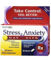 Natrol Stress & Anxiety Day & Nite (20 таб)