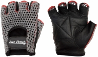 Перчатки для фитнеса Be First (черный хват, серая сетка)